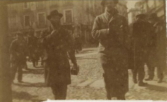 Édouard Vuillard y Ker-Xavier Roussel en la Plaza de Zocodover en febrero de 1901. Fotografía del príncipe de Rumanía Emmanuel Bibesco. Museo D´Orsay.
