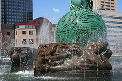 Fountain Of Eternal Life - Cleveland, Ohio (FitchDnld) Tags: life ohio fountain rising memorial war downtown peace cleveland flames wwii clevelandohio korean eternal arising warmemorialfountain fountainofeternallife peacearisingfromtheflamesofwar warmemorialfountainclevelandohio