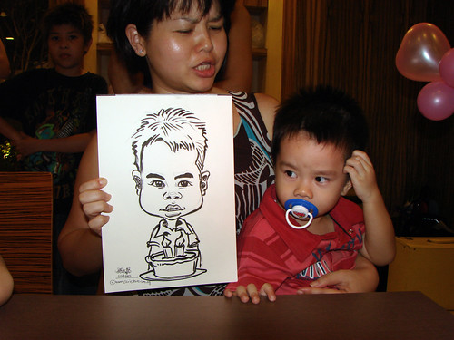 Caricature live sketching for birthday party 11092010 - 8