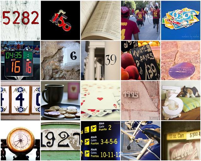 Mosaico de números del grupo Click&Go
