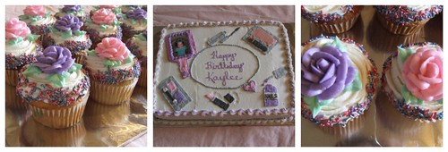 make up cake and cupcakes