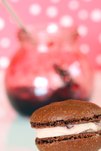 ... and I hope these little mini Black Forest macarons are perfect