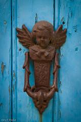 Heurtoir (Oric1) Tags: door blue france angel brittany ange bretagne breizh knocker porte knock breton bleue heurtoir oric1