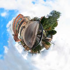 bergsbron (to die for) Tags: bridge panorama liu university sweden 360 mini planet polar norrkping bergsbron littleplanet polarpanorama miniplanet linkpingsuniversitet