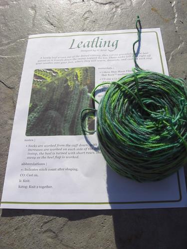 Socks on deck - leafling