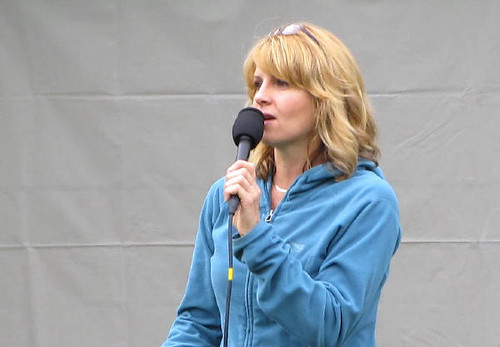 Jill Krop, Global TV news personality. Vancouver's Terry Fox Run 2010 Re-ignites Marathon of Hope at 30th Anniversary in Stanley Park