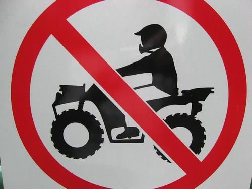 No ATV's