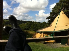 Tough afternoon (acockle) Tags: sky feet tent teepee bliss tipi wigwam dolectures dolectures2010