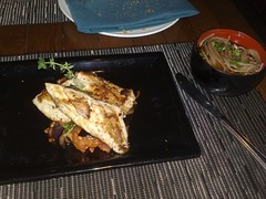 Sea bass and soba