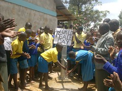 CHEERFULLY RECIEVING THE WATER SYSTEM