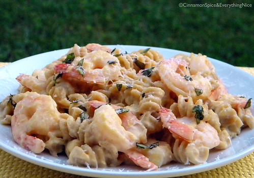 Pasta with Winter Squash and Shrimp