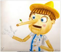 Ilustración Tradicional / Lápices de Color / Pinocho de la película Shrek (Juan Camilo Bedoya Vargas) Tags: wood color art pencil madera shrek pinocho pinochio pinnocho
