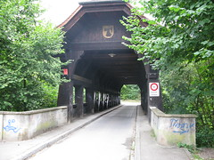 Covered Bridge in Basel