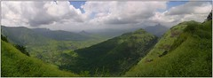 Peb (flickrohit) Tags: india mountains green clouds trek fort maharashtra peb rohit matheran rohitgowaikar