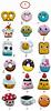 Felt brooches collection (Memi The Rainbow) Tags: cloud cute cakes cup mushroom fruits mushrooms shark rainbow felt deer kawaii moby etsy craftiness brooches zakka decole memi decolello memitherainbow