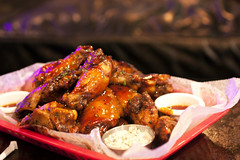 bbq wings @ brooklyn bowl