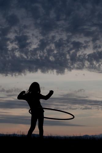 hula hoop silhouette