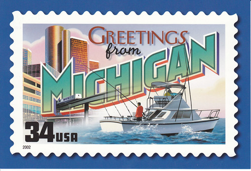 Flickriver crayolamoms photos tagged with mi usps greetings from michigan postcard m4hsunfo