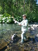 Glenn casts dry flies for McCloud River Redband Rainbows
