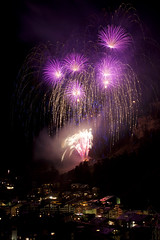 Zermatt Fireworks (Huw Hopkins LRPS Photography) Tags: pink alps photography switzerland long exposure display fireworks swiss zermatt huw hopkins valait