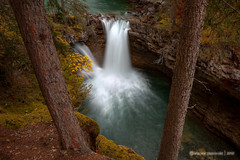 In the in Between (VincentPiotrowski) Tags: autumn fall waterfall nationalpark banff johnston johnstoncanyon