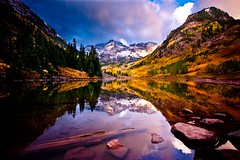 Maroon Bells (Dan Ballard Photography) Tags: travel sunset favorite mountain lake mountains color reflection fall dan nature beautiful leaves sunrise landscape rockies photography amazing colorado gallery photographer fallcolor pics outdoor spirit magic best photograph western stunning prints ballard rockymountains portfolio aspen gallary maroonbells photograpy forsell newvision outdoorphotographer southeastcolorado danballard coloradothunderstorms souttheastcolorado danballardphotography danballardphotogarphy peregrino27newvision