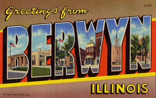 Greetings From Berwyn, IL Postcard