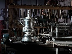 The FA cup is being restored