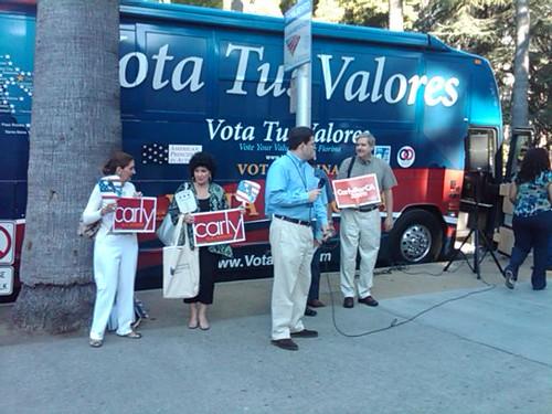 Vota Tus Valores' Sacramento stop