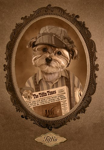 victorian dog portrait - 1