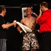 James Heelan with John Kavanagh and Clive Staunton in his corner