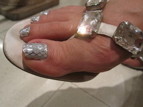 minx nails toes. another Minx nails design,
