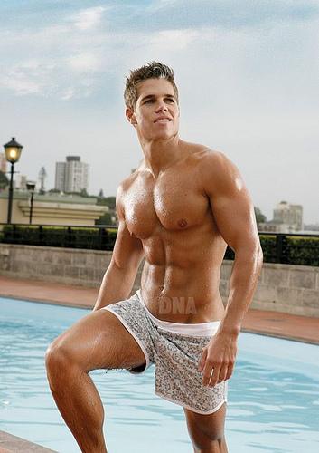 tyler batchel DNA model sexy underwear models