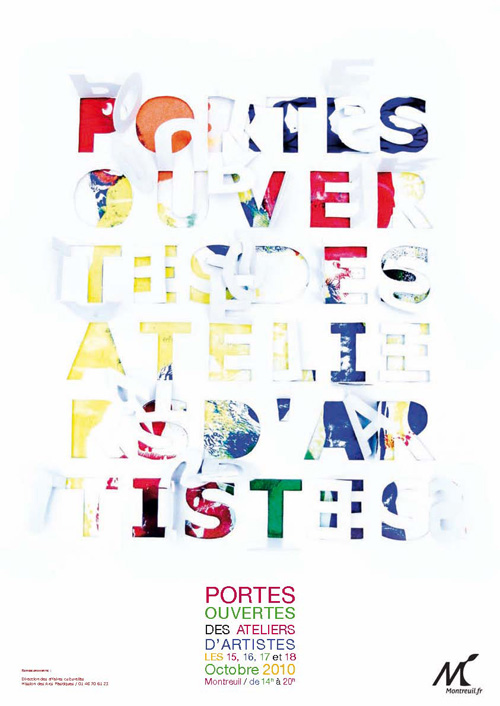 Flyer portes ouvertes des ateliers d'artistes de Montreuil