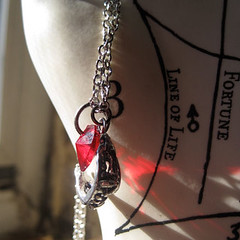 Om Nom Nom Necklace (Shop Mathilde) Tags: red necklace handmade teeth jewelry accessories monsters pewter vampires crystalheart