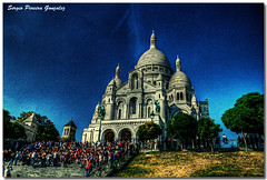 Paris - Sacr Coeur (sergio.pereira.gonzalez) Tags: paris france photoshop canon capital sacrcoeur francia hdr sagradocorazon photomatix tonemapping 400d sergiopereiragonzalez couleurcolorcolour