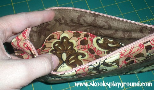 Gathered Clutch Purse - Inside View