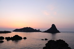Islands of the Cyclops at Dawn Sicily Italy - ...