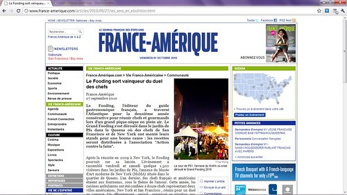 Tearsheet - A few of my photos on France-Amérique