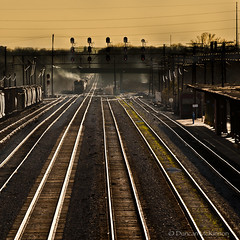 It Must Be 6:25 (nailbender) Tags: railroad travel birmingham track smoke alabama traintracks tracks trains cargo transportation rails freight nailbender rightontime