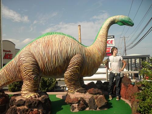 dinosaur golf