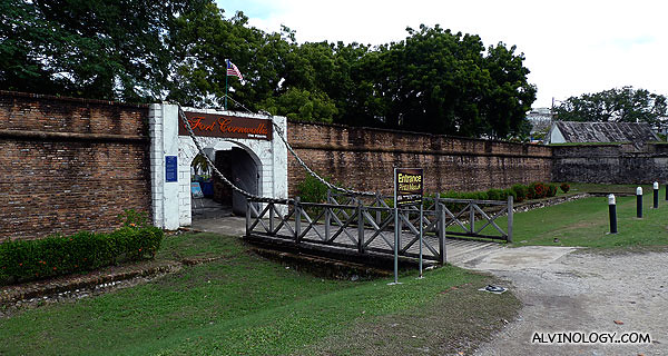 Fort Cornwallis entrance - admission fee is RM$2