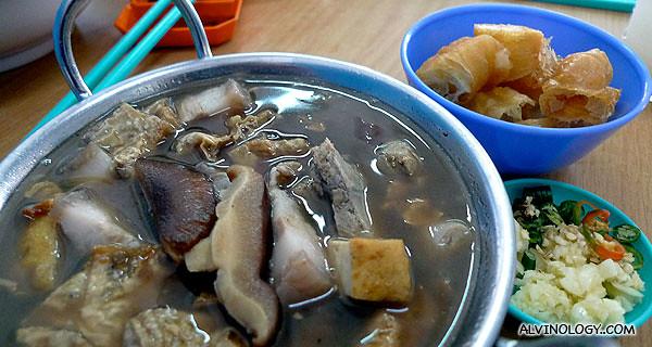 I ordered Bah Kut Teh for lunch