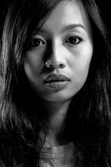 Jane Monochrome (Ridzuan Madin) Tags: portrait white black monochrome beauty up shadows close dish jane jaywalker highlights ridzuanmadin