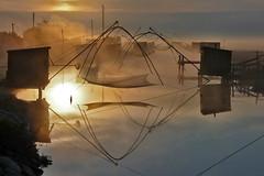 Brume matinale (rogermarcel) Tags: sea mer mist sunrise brume leverdesoleil waterscape carrelets bestcapturesaoi elitegalleryaoi mygearandme mygearandmepremium rogermarcel