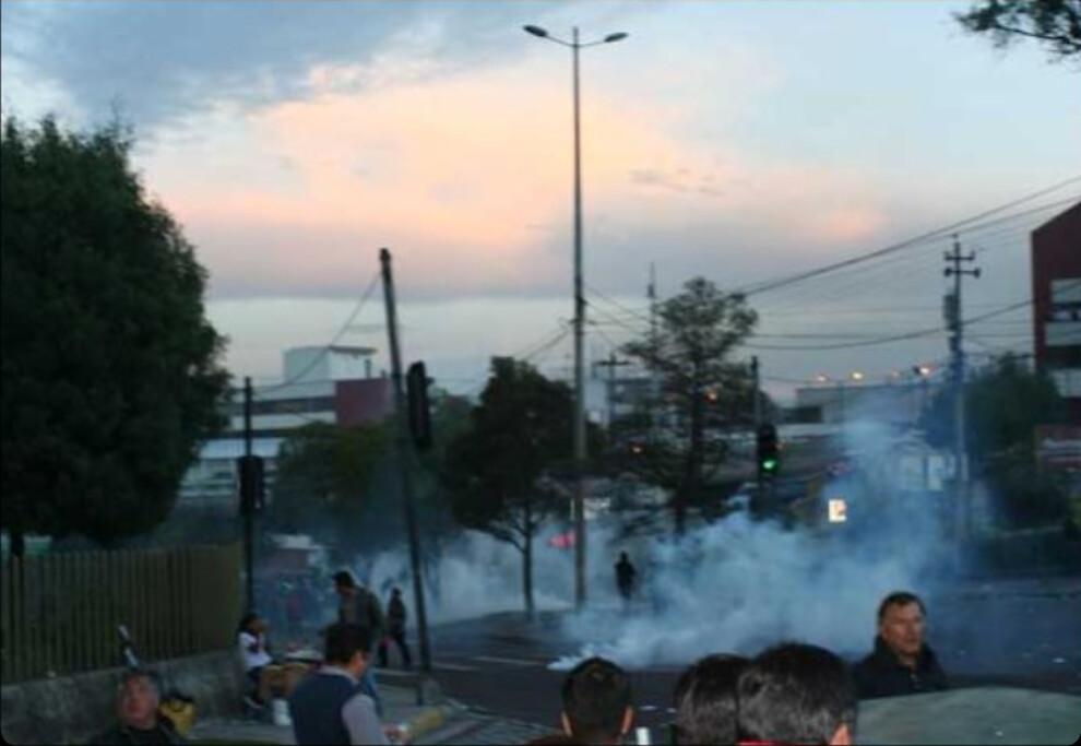 Teargas spreading