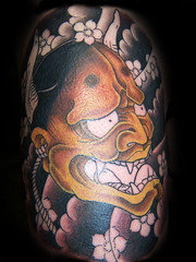 hannya mask, tattoo by Beau (B. Mountseer) Tags: tattoo ink mooloolaba hannya japenese