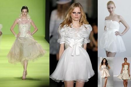 vestidos de noivas curtos 2011