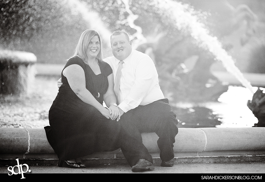 Kansas City Country Club Plaza engagement photographer