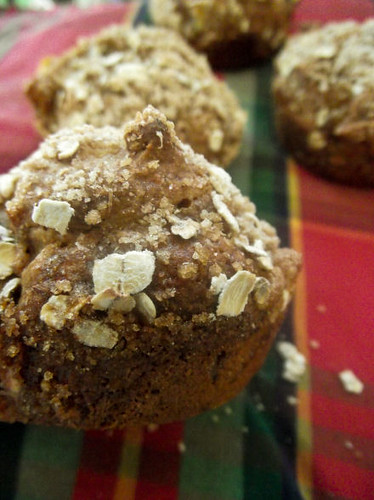 Dunk Twice: Roasted Banana Muffins with Brown Sugar Topping